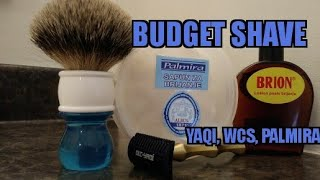 A Budget Shave! Feat. Yaqi DOC razor, Palmira, WCS, brion