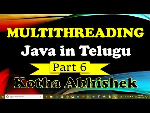 multithreading-in-java-part-6-in-telugu-by-kotha-abhishek