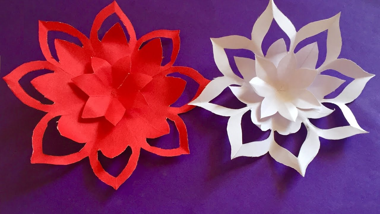 Mothers day gift ideas   How to make a paper Flowers   easy paper      decoration  Quelling