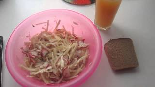 Моё питание,обед,салат с тунцом.Вариант 2.