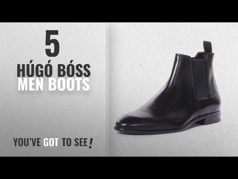 Top 10 Húgó Bóss Men Boots [ Winter 2018 ]: HUGO Men's Dressapp Chelsea Boots, Black, 9 D(M) US