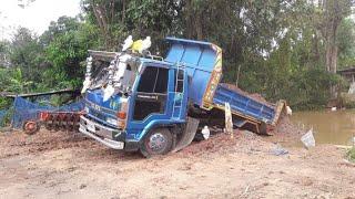 รถดั้มติดหล่มสิไปผิดทาง-มีวิธีเอาขึ้น-dump-truck