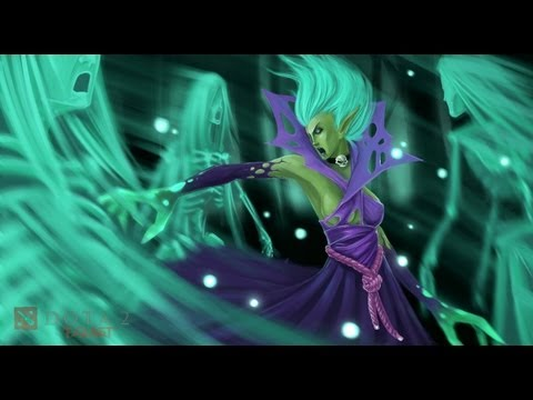 видео: death prophet - Гайд  дота 2. Злые духи  помогли мне :d