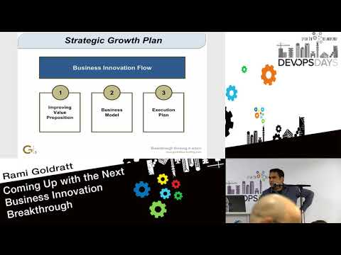 Coming up with the next Business Innovation Breakthrough - Rami Goldratt - DevOpsDays Tel Aviv 2017