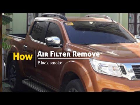 (Air Filter remove) Black Smoke clogged Air Filter: Nissan Navara EL VL