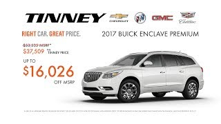 2017 Buick Enclave Current Discounts and Incentives | Tinney Automotive Greenville MI