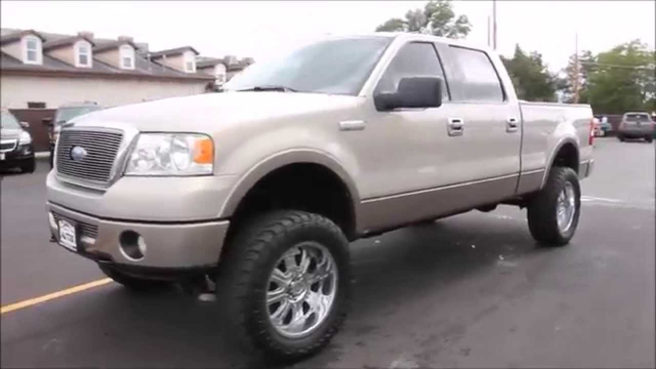 2006 ford f 150 super crew 4x4 lariat 5 4l triton v8 lift tires wheels autos inc