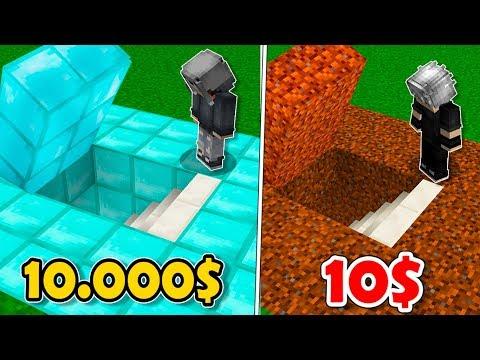 10.000 TL GİZLİ GEÇİT! VS 10 TL GİZLİ GEÇİT! 😱 - Minecraft