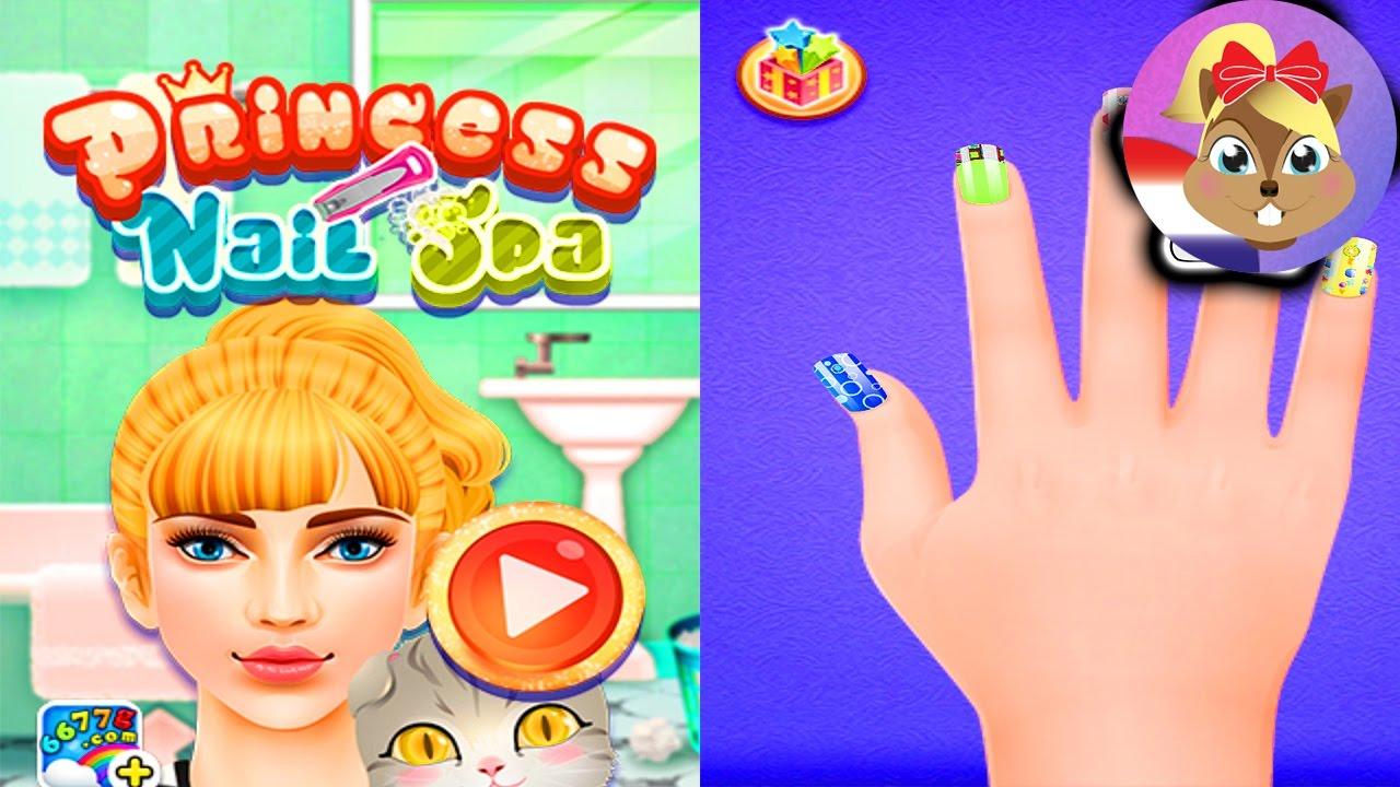 Princess Nail Salon Nagel designer spelen en nagels knippen, lakken ...