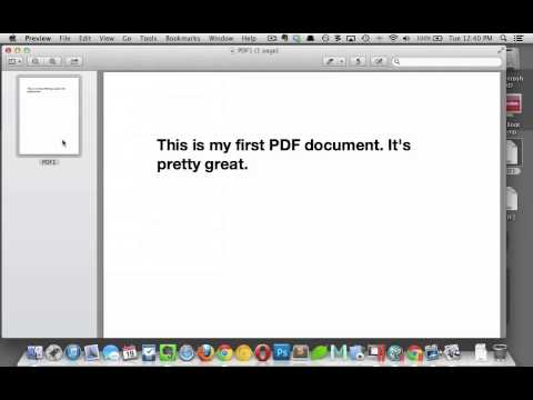 Combine PDF Files in Preview
