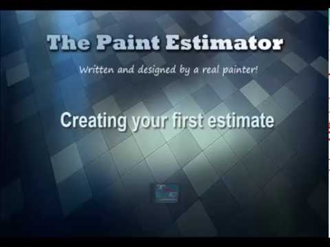 Estimating program for painters | Creating your First Estimate