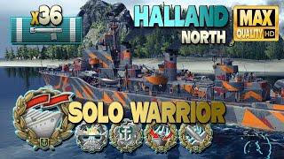 Халланд: «Воин-одиночка» с 36 попаданиями торпед - World of Warships