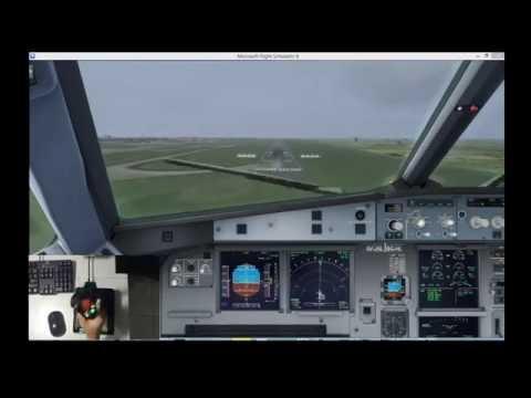 Aerosoft Airbus A320 Landing With Sidestick View FSX:SE/JSA203/WSSS-WIII/VATSIM