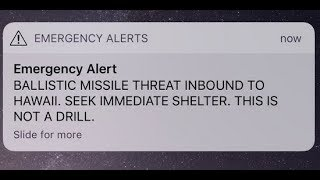 🚨Hawaii Residents Receive False Incoming Missile Alert - LIVE BREAKING NEWS COVERAGE