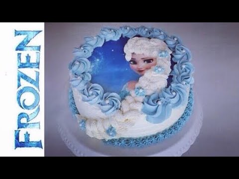 How To Make A Frozen Elsa Cake I Birthdaycake With Italien Meringue Buttercream