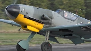 "Messerschmitt Bf-109 G14 ""Black 2""  Charged DB605 Sound!"