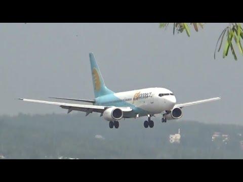 Jet konnect  Boeing 737-700 landing at karipur int'l airport | HD