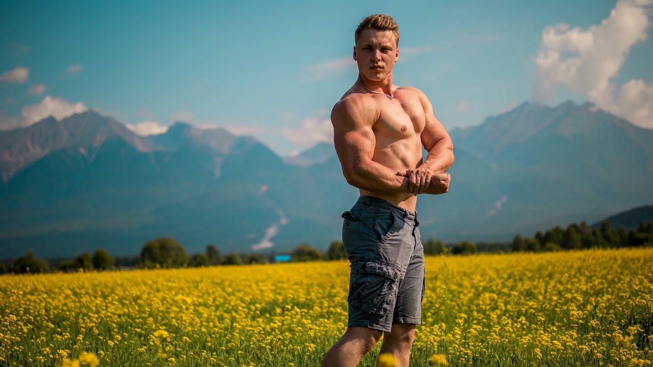 Professional Aesthetic Posing in Awesome Places | Big Video with 3 Strongest Siberian Boys