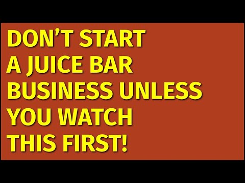 How To Start A Juice Bar Business | Including Free Juice Bar Business Plan Template