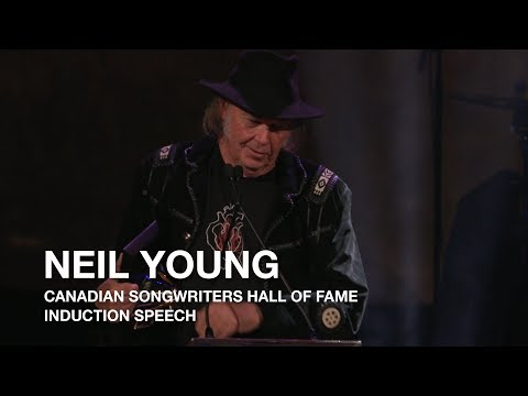 Neil Young Acceptance Speech | 2017 Canadian Songwriters Hall Of Fame