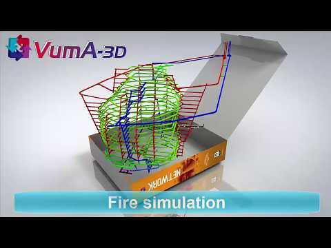 VUMA3D-network 2018 fire simulation 3D mine ventilation simulation software