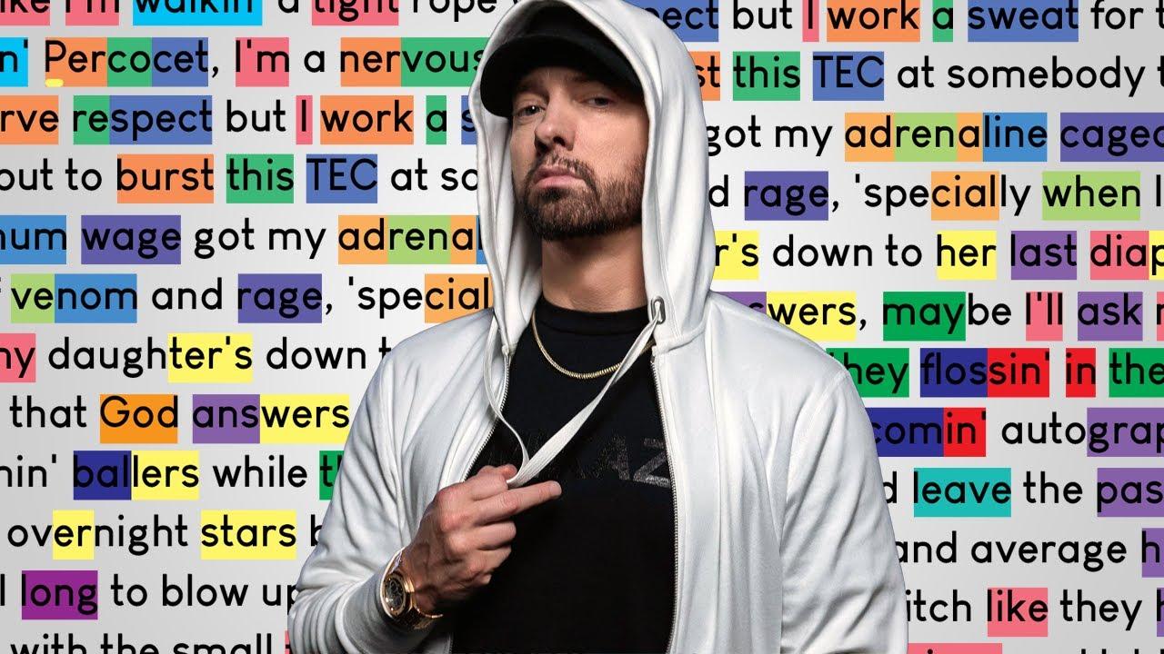 Eminem - Rock Bottom   Rhymes Highlighted