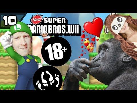 SεKS MET EEN AAP! (geen clickbait) - New Super Mario Bros Wii #10