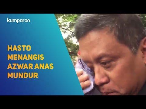 Sekjen PDIP Hasto Kristiyanto Menangis Azwar Anas Mundur