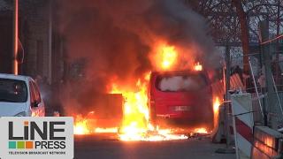 Violentes émeutes en marge d'un rassemblement pour Théo / Bobigny (93) - France  11 février 2017