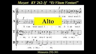 Mozart KV262-3F Alto - Credo -  Et Vitam Venturi - Missa Longa