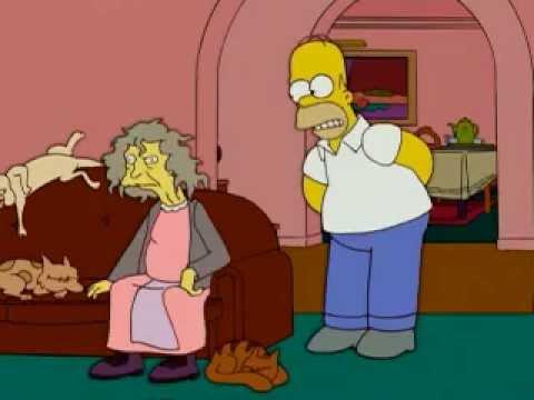 Homer , J\u0027pari que vous pouvez pas lancer un chat au dessus du toit