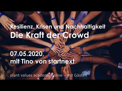 Webinar Resilienz durch Crowdfunding | Teil 3 - plant values academy mit Gast Tino von startnext