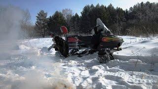 Зимние покатушки на снегоходе тайга атака 551
