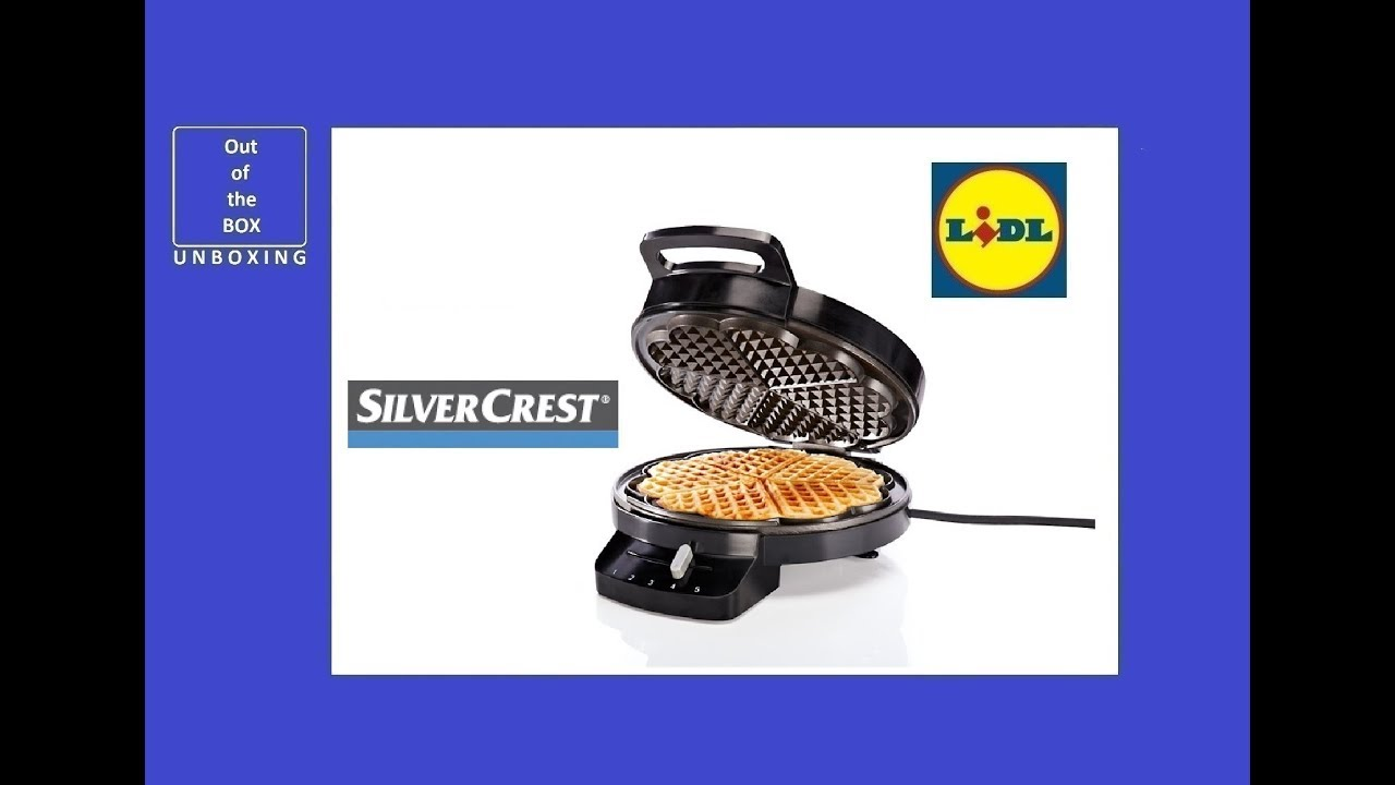 Silvercrest Waffle Maker Swe 1200 C3 Unboxing Lidl 1200 W Operating