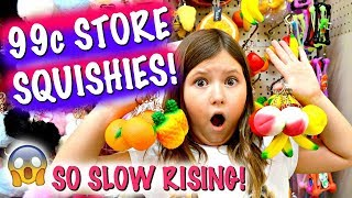 OMG! 99CENT STORE SQUISHIES!!! SUPER SLOW RISING! NOT A SKIT!!! ~ Squishy & Slime Supplies Vlog