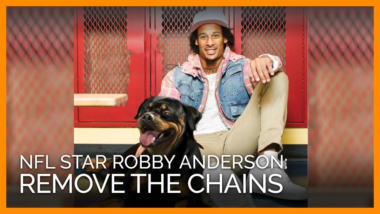 PETA Exclusive: NFL Star Robby Anderson Speaks Out Against Chaining Dogs