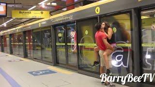 Metroda Ateşli Sexy Sevisme Hd