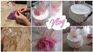 VLOG Подготовка к празднику украшаю торт на день Свадьбы как оригинально украсить торт