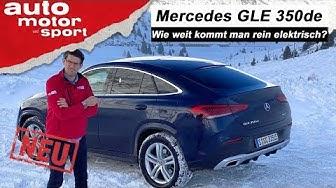Mercedes GLE Coupé 350de: Schafft er 100 km rein elektrisch? - Fahrbericht/Review | auto motor sport