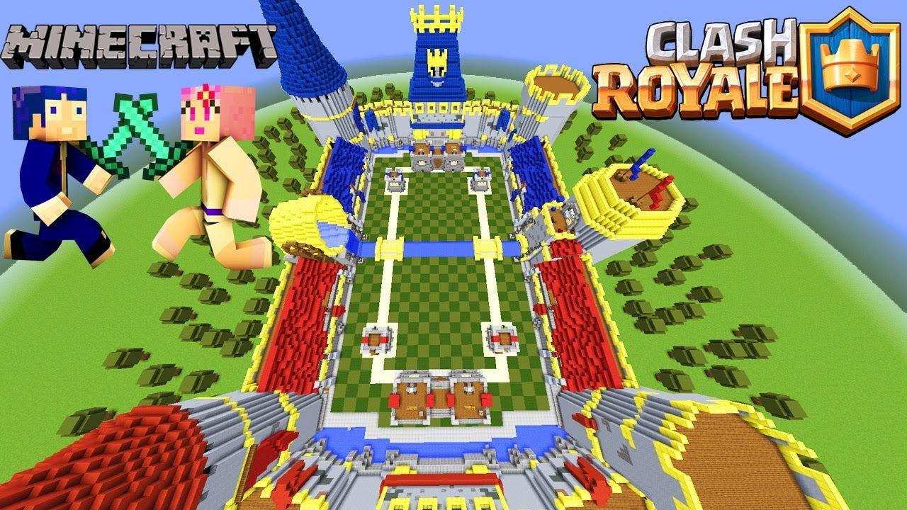 Clash royale en minecraft qui n ganar la batalla for Blancana y mirote minecraft