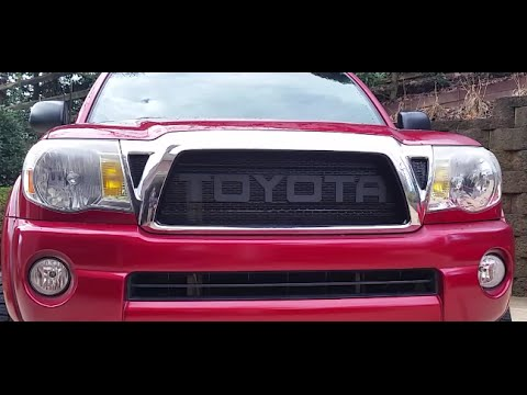 2014 Toyota Tacoma For Sale >> Toyota Tacoma Raptor Style Mesh Grill Installation - YouTube