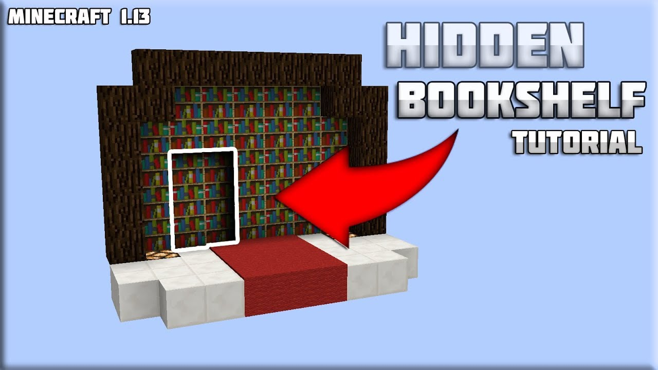 Hidden Bookshelf Door In Minecraft 1 13 With Tutorial