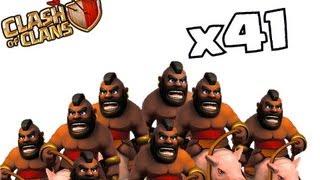 Clash of clans - Hog rider (i See BLaCk PeOpLe (Hog Rider x41)