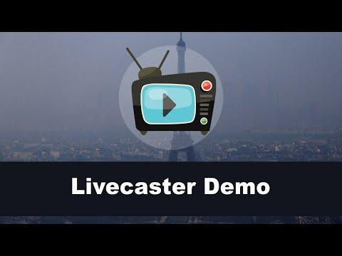 Livecaster Demo. http://bit.ly/2Zl4xEJ