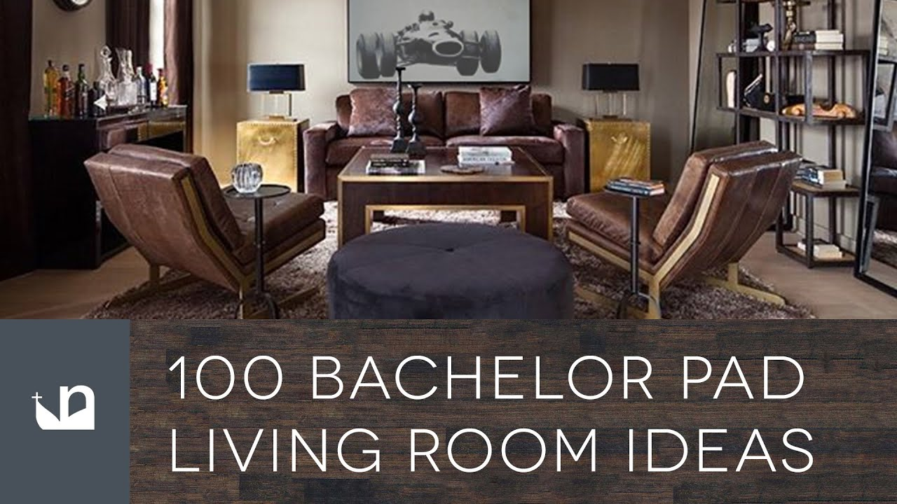 100 Bachelor Pad Living Room Ideas For Men - YouTube