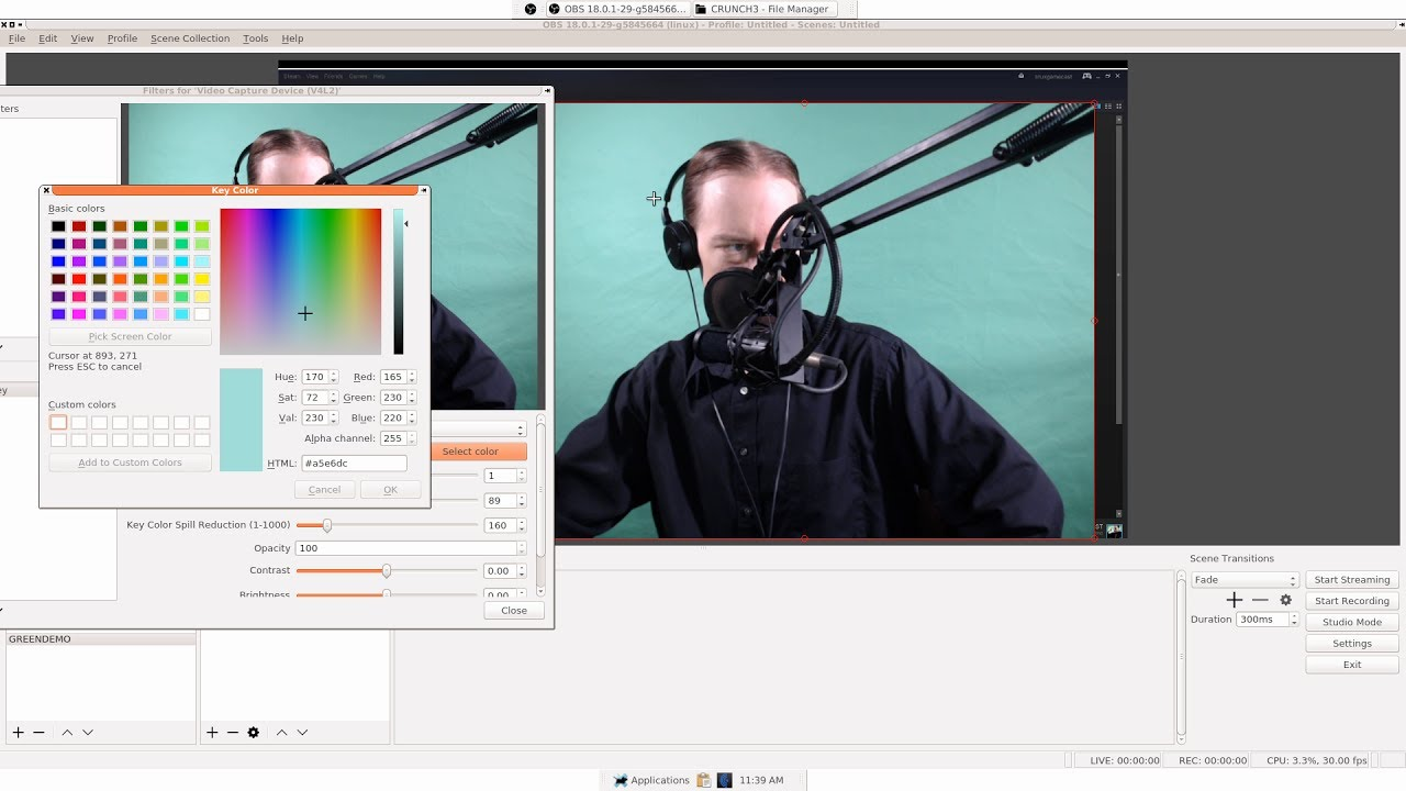 Setup & Use A Green Screen With OBS (Linux)