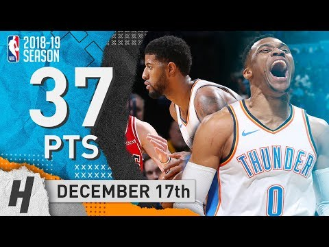 Russell Westbrook & Paul George COMBINED Highlights Thunder vs Bulls 2018.12.17 - TD for Russ!
