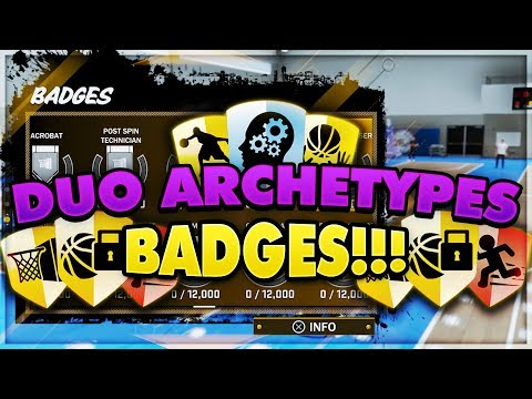 NBA 2K18 PLAYGROUND - ALL THE DUO ARCHETYPES AND MAIN BADGES!!!!