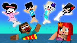 Monster School: Mermaids All Episodes season 3! - Funny Minecraft Animation