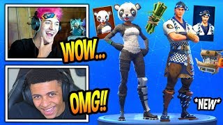 NINJA & MYTH REACT TO *NEW* PANDA TEAM LEADER & SUSHI MASTER SKINS! *RARE* Fortnite SAVAGE Moments